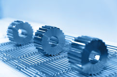 Titanium gears Royalty Free Stock Images