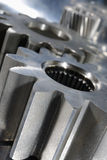 Titanium gears and steel Royalty Free Stock Image