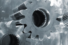 Titanium gears and steel Royalty Free Stock Images