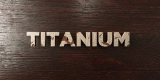 Titanium - grungy wooden headline on Maple  - 3D rendered royalty free stock image Stock Image