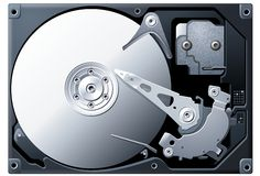 Titanium Hard Disk Drive Stock Photography