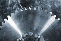 Titanium i stalowi przekładni koła obrazy stock