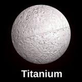 Titanium icon, realistic style stock illustration