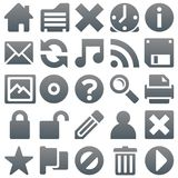 Titanium icons 2. Titanium smooth metal icon set shapes Stock Images