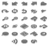 Titanium icons Extras. Set 2 of 2 titanium icon sets Royalty Free Stock Photos