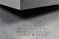 Titanium ingots Zdjęcia Royalty Free