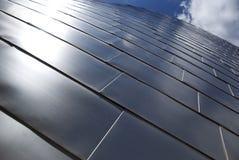 Titanium metal surface. Titanium metal panels on a building in Bilbao, Spain Stock Image