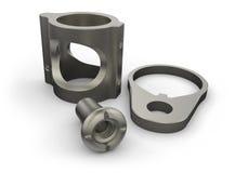 Titanium parts Stock Image