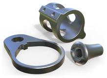 Titanium parts Stock Photo