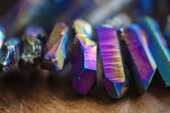 Titanium Quartz. Rainbow natural beads Royalty Free Stock Images
