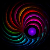 Titanium rainbow spiral. Abstract fractal image resembling a titanium rainbow spiral Royalty Free Stock Photo