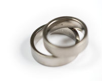 Titanium rings Stock Images