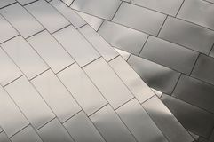 Titanium Roof. Detail of a Titanium Roof Royalty Free Stock Photos