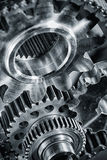 Titanium and steel aerospace gears Royalty Free Stock Photography