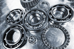 Titanium and steel ball-bearings, pinions Royalty Free Stock Image