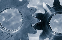 Titanium and steel gear wheels Stock Image