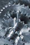 Titanium and steel gears Royalty Free Stock Images