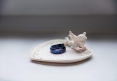Titanium wedding rings Stock Photos