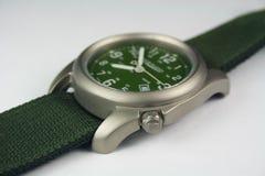 Titanium Wrist Watch. Modern Titanium Wrist Watch - Durable Metal Stock Photo