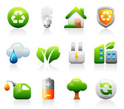 Titaniun green icons Stock Images