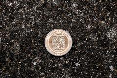 Titano Bitcoin dell'oro Fotografia Stock