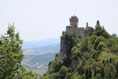 Titano del supporto della torre della città del San Marino Fotografia Stock Libera da Diritti