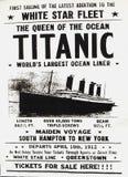 Titantic-Plakat Stockbild