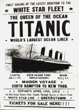 Titantic Poster. Titanic Poster in Cobh, the last port of call for RMS Titantic, County Cork Stock Image