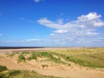 Titchwell bagna plaża, Norfolk Fotografia Royalty Free