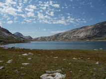 Titcomb Basin in Rocky Mountains. Hiking in Wind River Range, Wyoming stock image