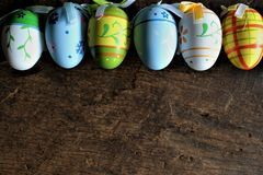 Titel: An concept Image of some easter eggs, with copy space. Abstract Royalty Free Stock Images
