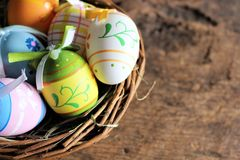 Titel: An concept Image of some easter eggs, with copy space. Abstract Royalty Free Stock Photos