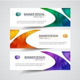 Titel-Fahnensozialdesign Vektor-Rahmenhintergrund verwendet für Deckblattdesign Lizenzfreie Stockfotos