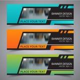 Titel-Fahnensozialdesign Vektor-Rahmenhintergrund verwendet für Deckblattdesign Lizenzfreie Stockbilder