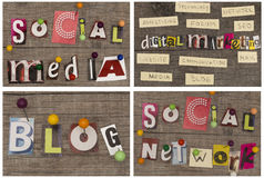 Titel SOZIAL-MEDIA/NETWORK/BLOG/DIGITAL MARKETING Stockbild