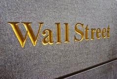 Titel Wall Street in Lower Manhattan Royalty-vrije Stock Afbeelding