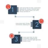 Titeleinzelteile mit infographics Elementen Stockbilder