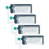 Titelgeschäft infographics Schabloneneinzelteile Stockfotografie