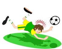 titelraden sparar fotboll Arkivbild