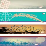 titelrader för affär fyra vektor illustrationer