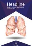 TitelseitenDesign mit den niedrigen menschlichen Polylungen Lizenzfreie Stockfotos