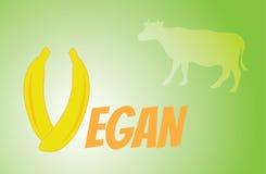 Titelstrenger vegetarier vom Obst und Gemüse von Lizenzfreie Stockbilder