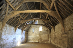 Tithe barn, Lacock, Wiltshire, UK Stock Photo