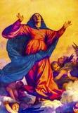 Titian-Annahme Mary Painting Santa Maria Frari Venedig Italien lizenzfreie stockfotos