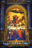 Titian-Annahme Mary Painting Santa Maria Gloriosa de Frari Ch lizenzfreies stockbild