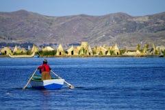 Titicaca湖 图库摄影