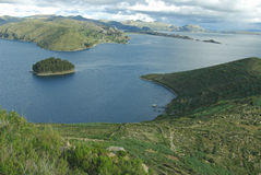 titicaca του Περού λιμνών της Βολιβίας Στοκ Εικόνες