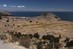 titicaca берега озера copacabana Стоковое Изображение