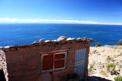 湖titicaca 库存照片