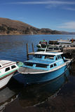 Titicaca lake boats Royalty Free Stock Image
